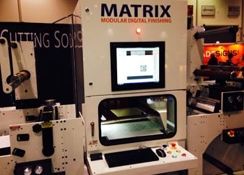 The LasX Matrix system was demonstrated at Print World 2014.